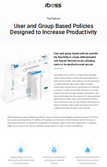 User and Group Based Policies Designed to Increase Productivity