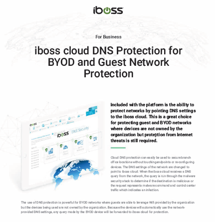 iboss cloud DNS Protection for BYOD and Guest Network Protection