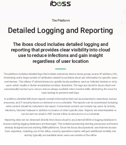 Detailed Logging and Reporting