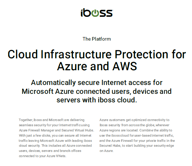Cloud Infrastructure Protection for Azure and AWS