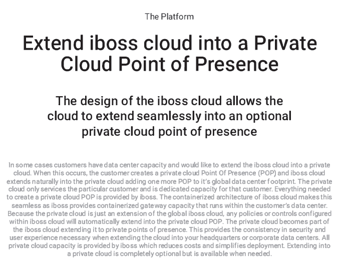 Extend iboss cloud into a Private Cloud Point of Presence
