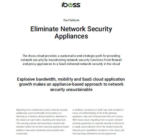 Eliminate Network Security Appliances