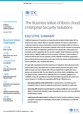 The Business Value of iboss cloud Enterprise Security Solutions