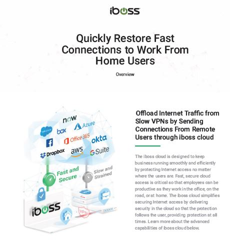 Quickly Restore Fast Connections to Work From Home Users