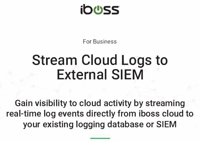 Stream Cloud Logs to External SIEM