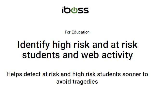 Identify high risk and at risk students and web activity
