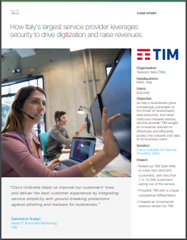 TIM - How Italy's service provider leverages security to drive digitization and raise revenues